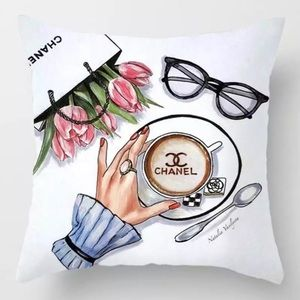Other - Pillow Cover Latte Print